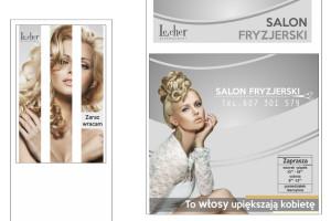 witryny salon fryzjerski B. Pozorska Piła